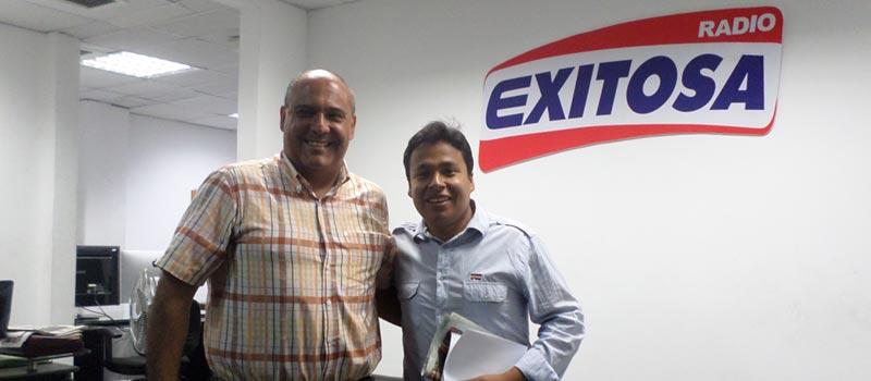Entrevista a Sergio Gonzalez en Radio Exitosa