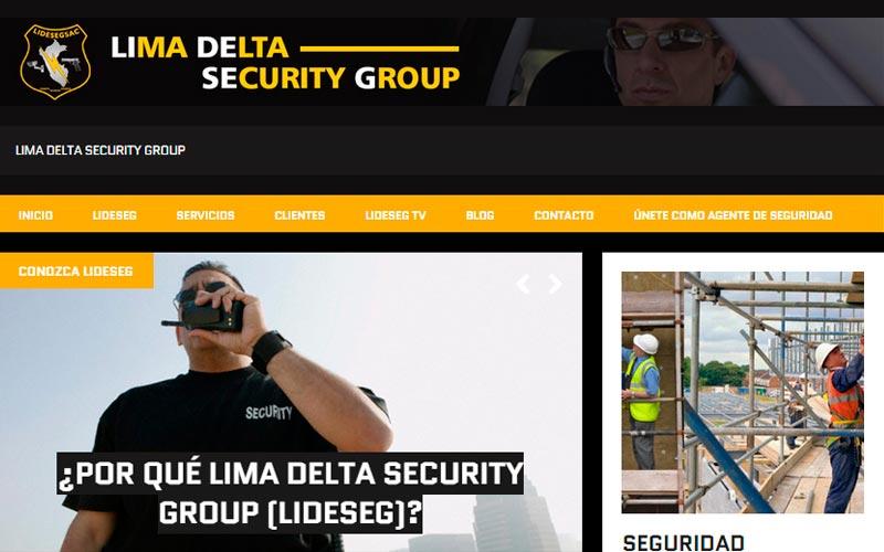 Sitio Web LIMA DELTA SECURITY GROUP