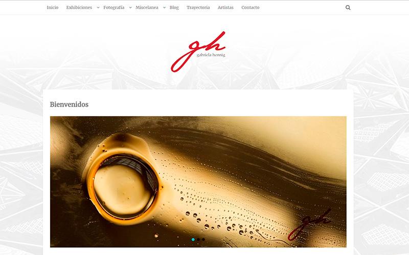 Sitio Web Gabriela Hennig