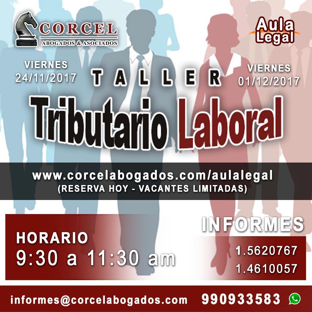 Corcel Abogados - Taller Tributario Laboral