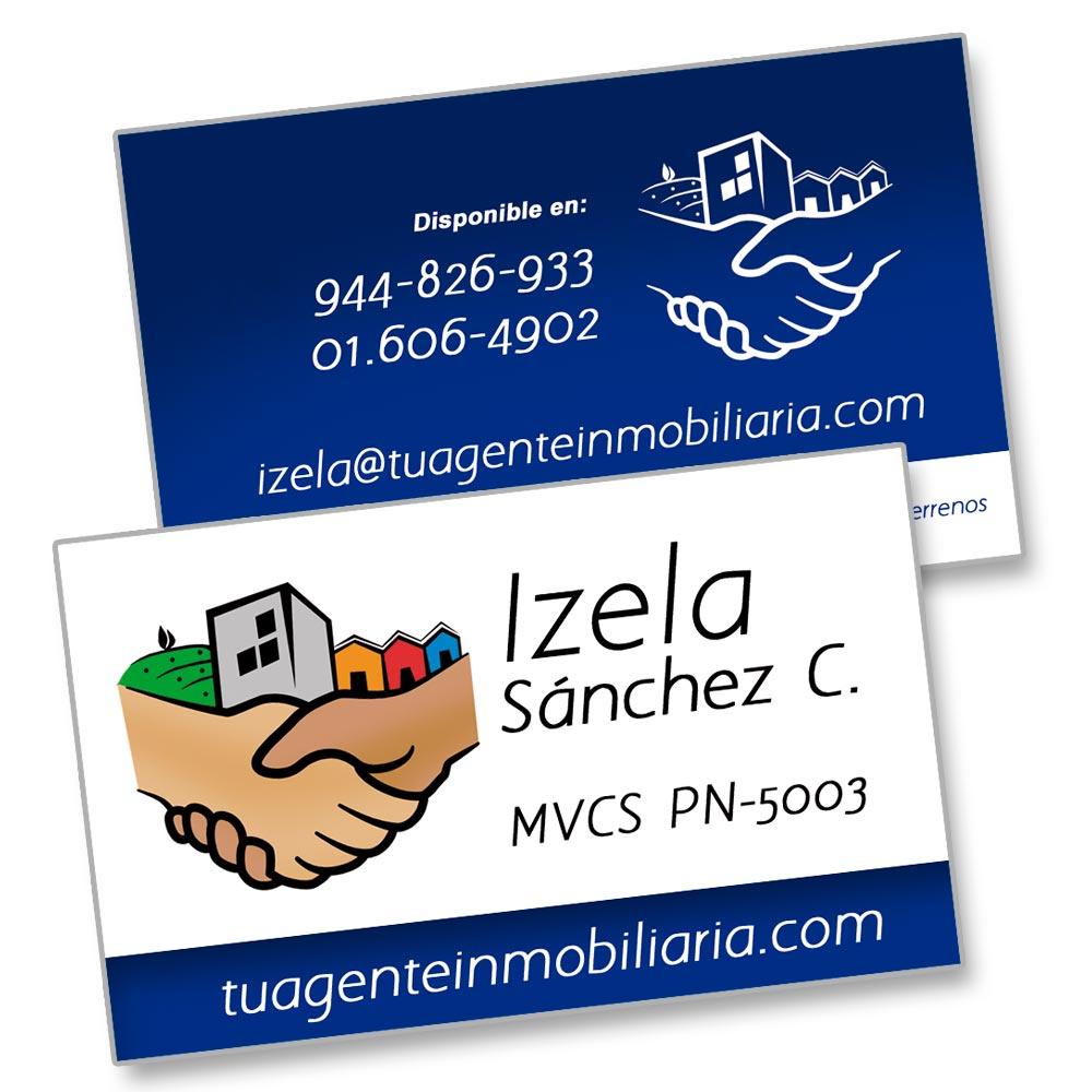 Diseño de tarjetas Izela Sánchez