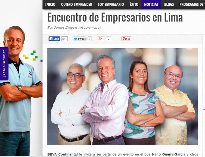 Encuentro de empresarios en Lima