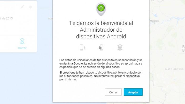 """Aplicación """"Encuentra mi teléfono"""" para Android 1"""
