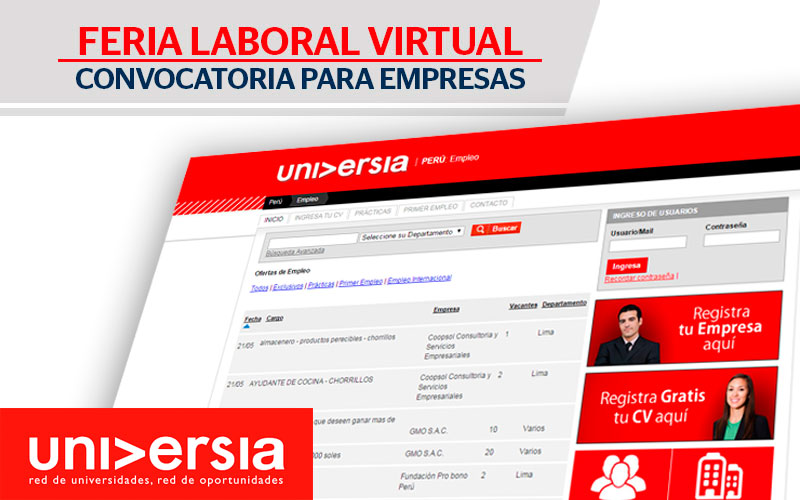 Feria Laboral Virtual Universia