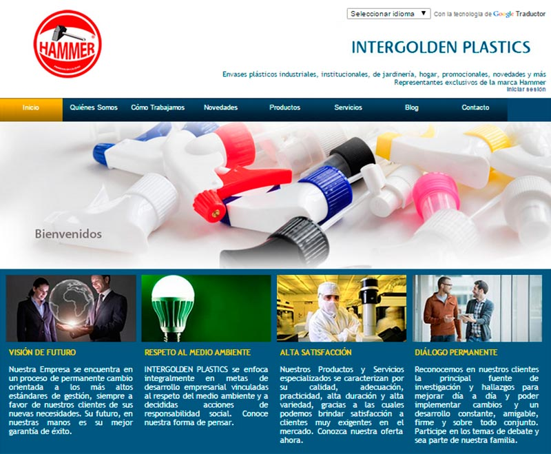 Sitio Web Intergolden plastics