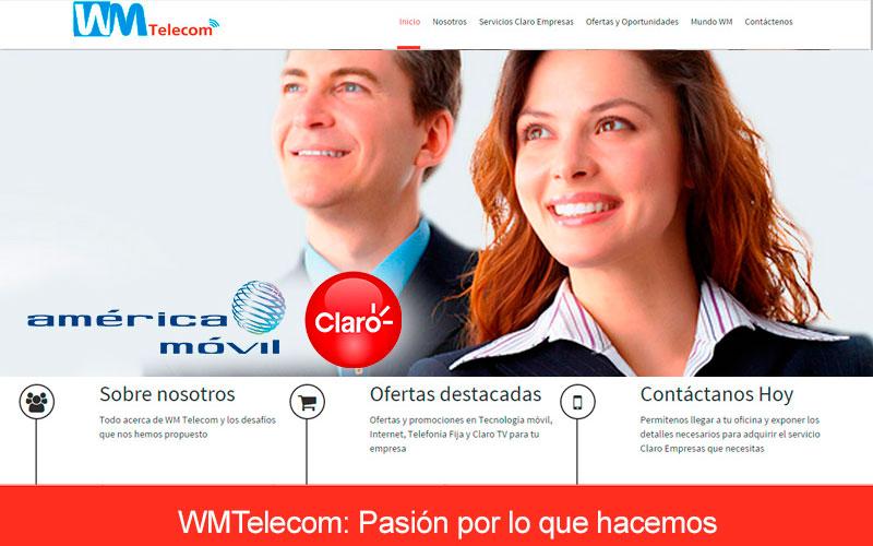 Portal Web wmtelecom.com.pe