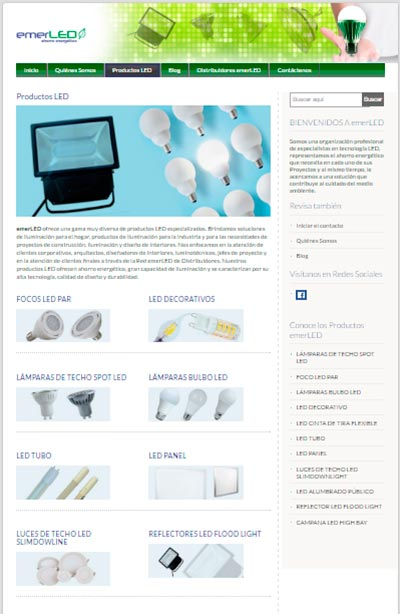 Productos emerLED - Tecnología LED