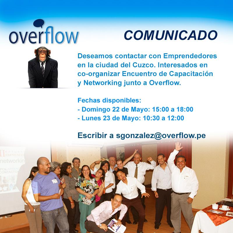 Convocatoria Encuentro Emprendedor en Cuzco