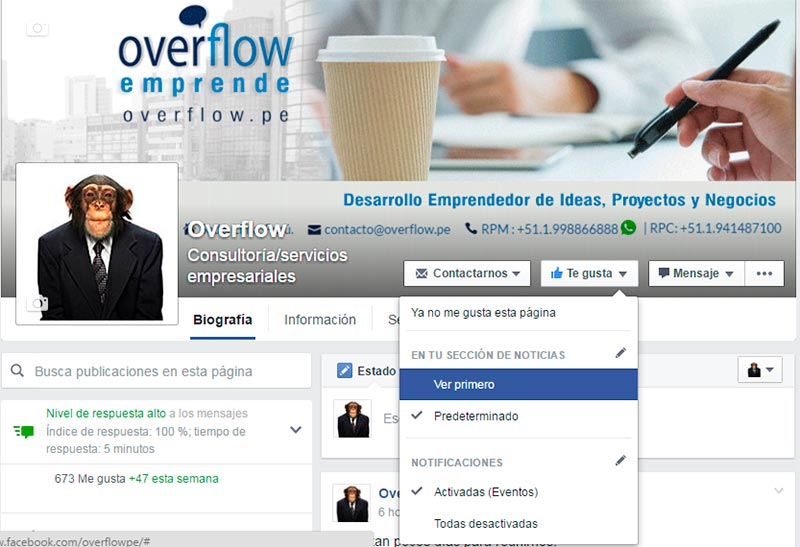 No te pierdas estar cerca de Overflow en Facebook