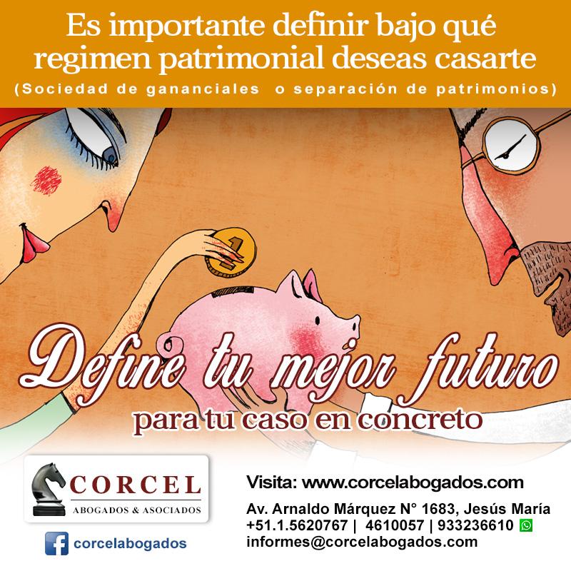 Flyers Corcelabogados.com - Régimen Patrimonial