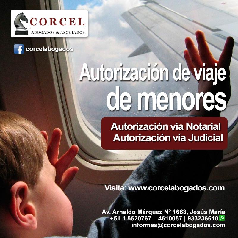 Flyers Corcelabogados.com - Viaje de menores