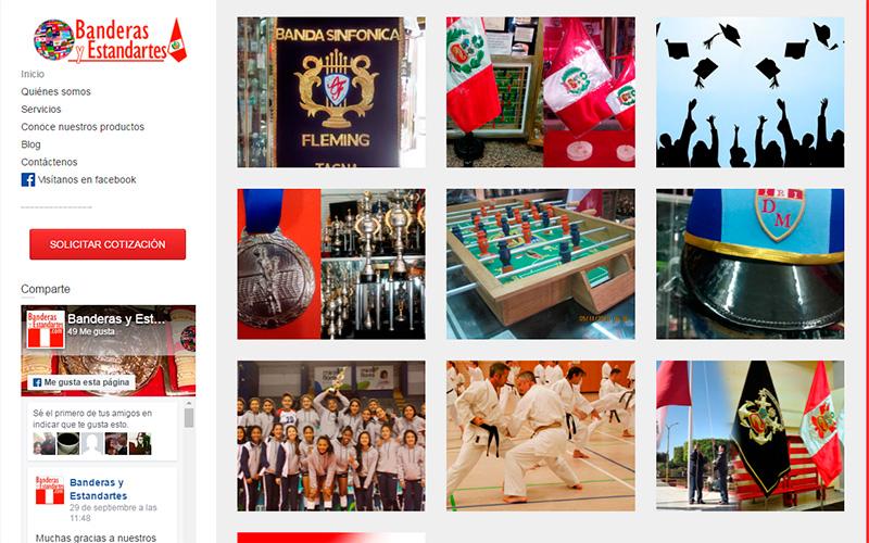 Sitio web Banderasyestandartes.com