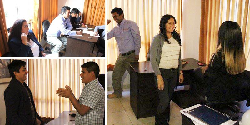 AJC Proyectos SAC - Taller de contenidos y dinámicas motivacionales a cargo de Alex Mercado y Sergio González