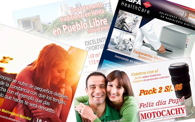 Packs de diseño gráfico de flyers, folletos y avisos