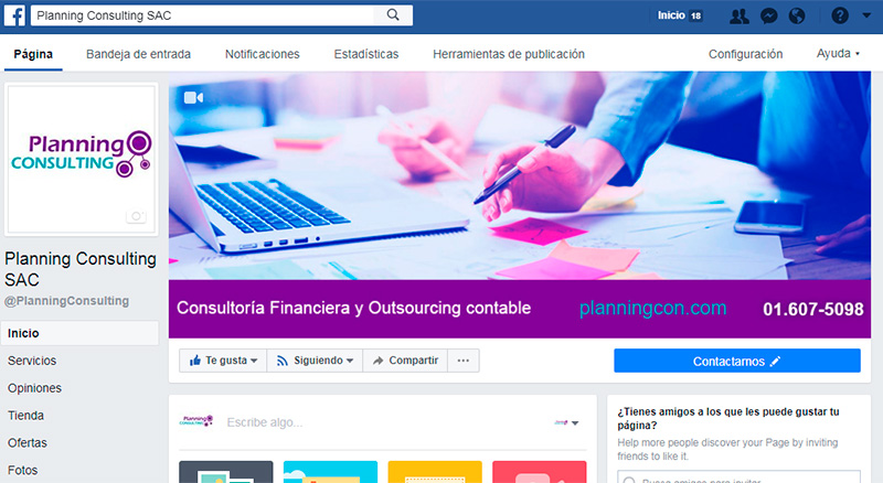 Fanpage Planning Consulting SAC
