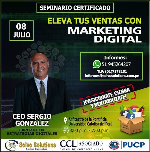 Eleva tus ventas con Marketing Digital - Sergio González con Solvo Solutions