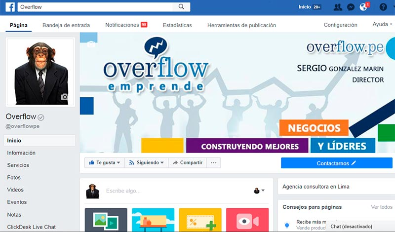 Hazte fan de Overflow en Facebook