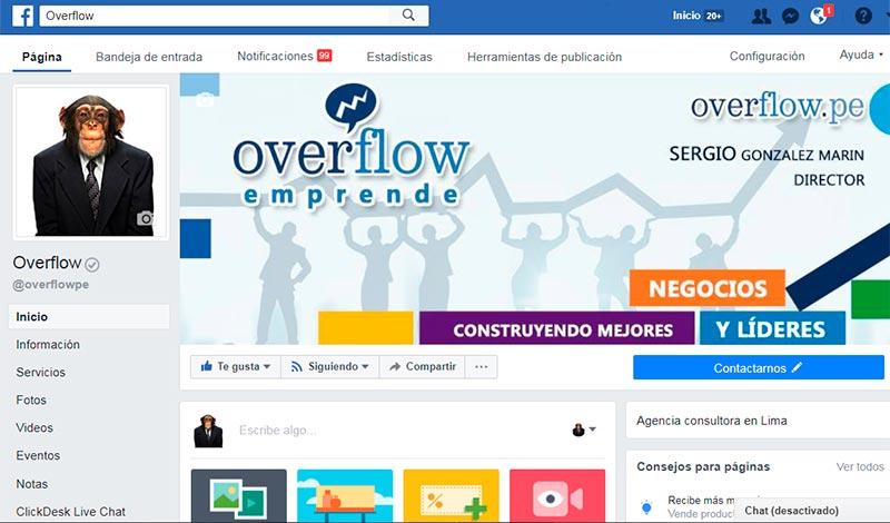 Hazte fan de Overflow en Facebook