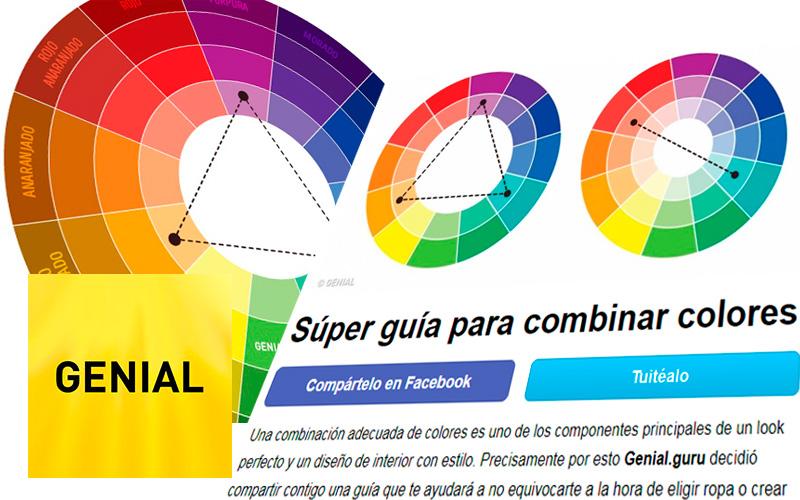 Súper guía para combinar colores de GENIAL