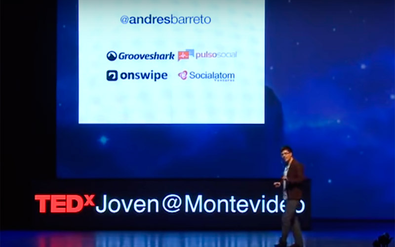 Andres Barreto emprendedor joven colombiano expone en TED Montevideo - Overflow.pe
