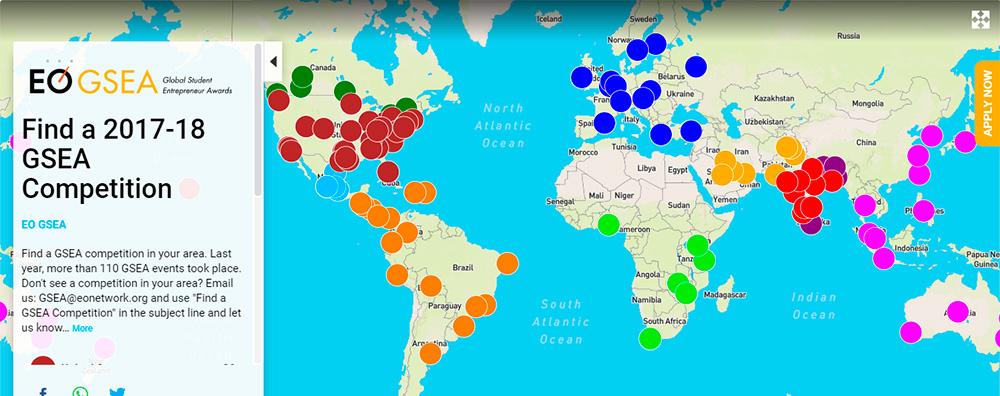 Lista de concursos EO GSEA a nivel mundial