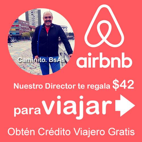 Comparte tu deseo por viajar. Obtén crédito viajero gratis. ¡Sergio te regala $42 para alquilar alojamientos en Airbnb.com!