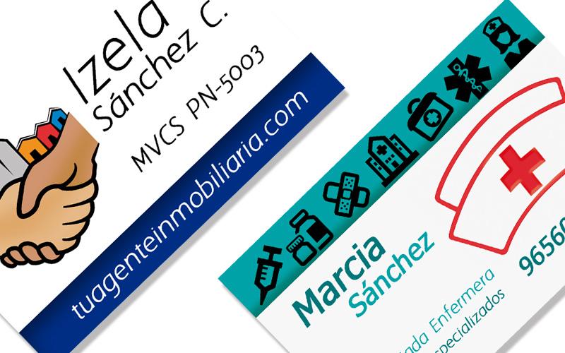 Diseño e impresión de tarjetas de presentación