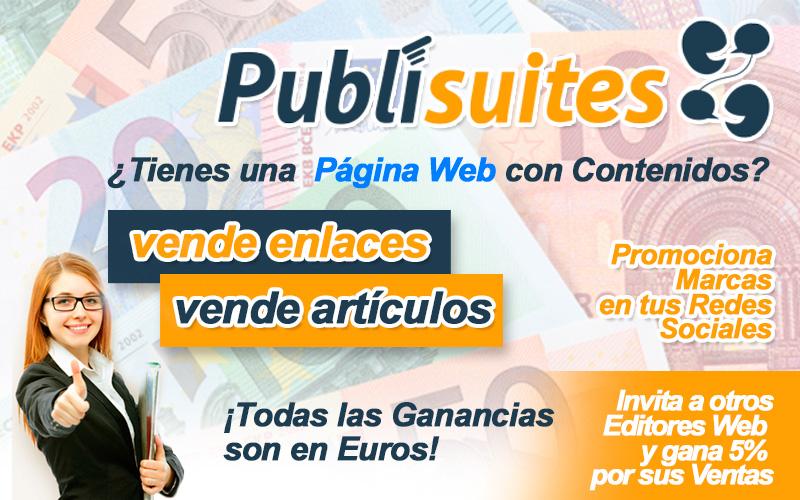 Ganar dinero con tu web gracias a publisuites