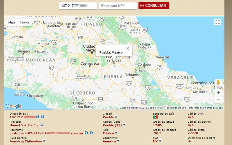 Localizar un IP en el mapa con InfoSniper