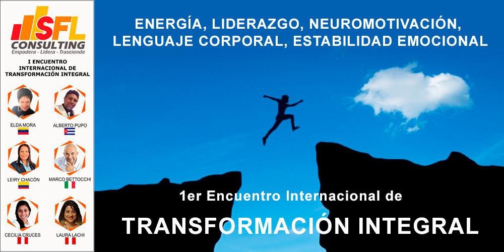 Primer Encuentro Internacional de Transformación Integral - SFL Consulting SAC - Overflow.pe