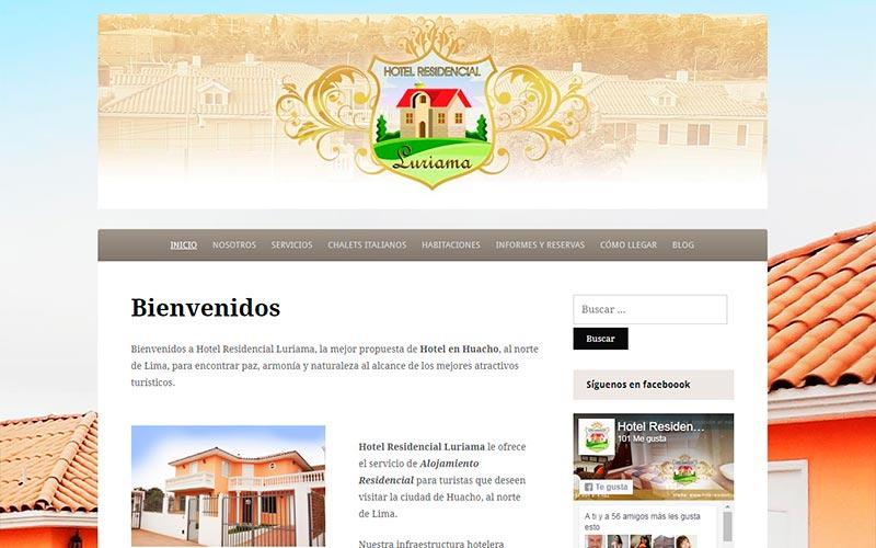 HotelResidencialLuriama.com desarrollado por Overflow Emprende - Overflow.pe