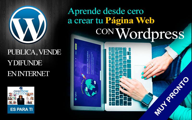 Aprende desde cero a crear una Página web - Wordpress para Emprendedores - Overflow.pe