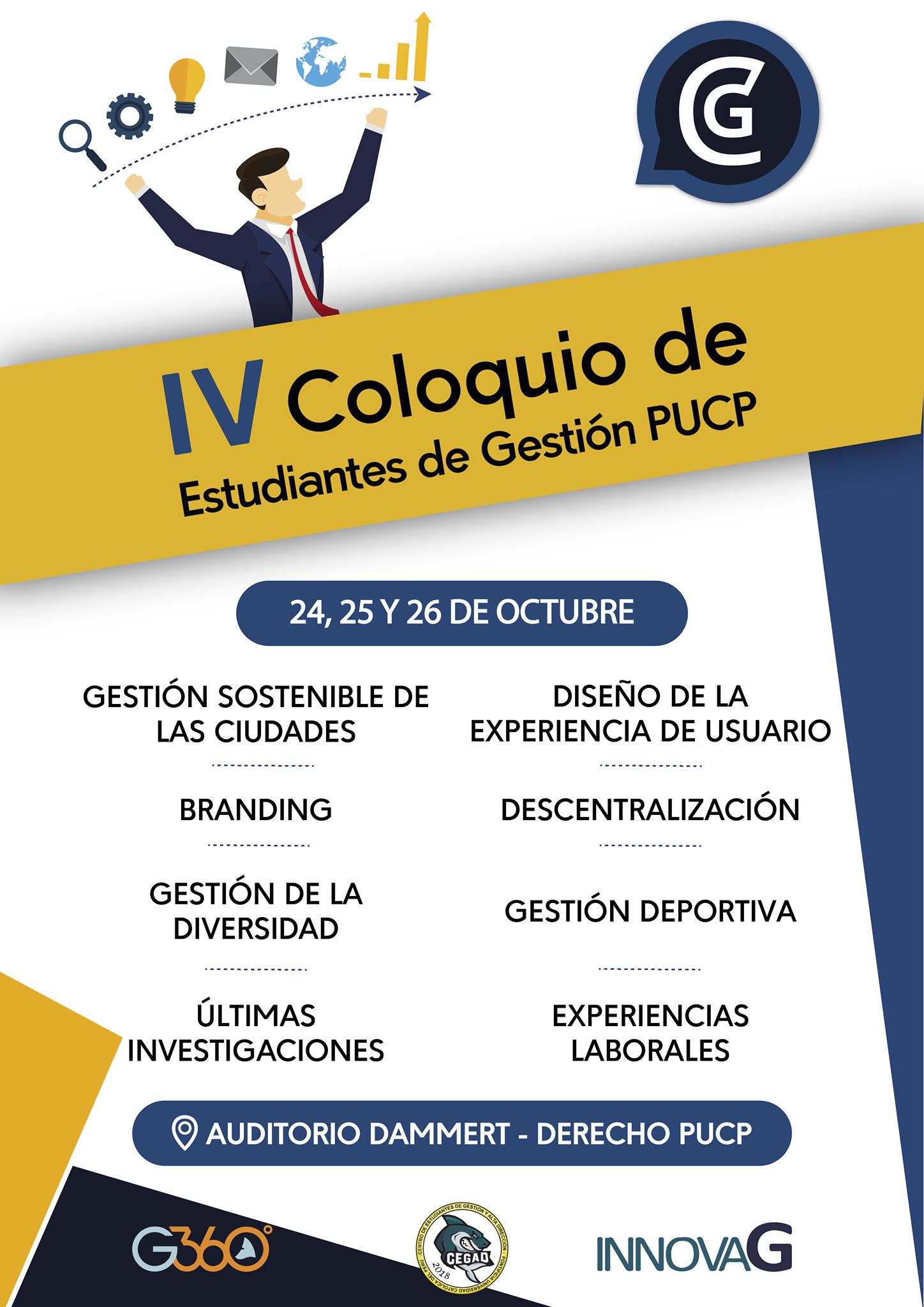 IV Coloquio de Estudiantes de la Facultad de Gestión y Dirección PUCP