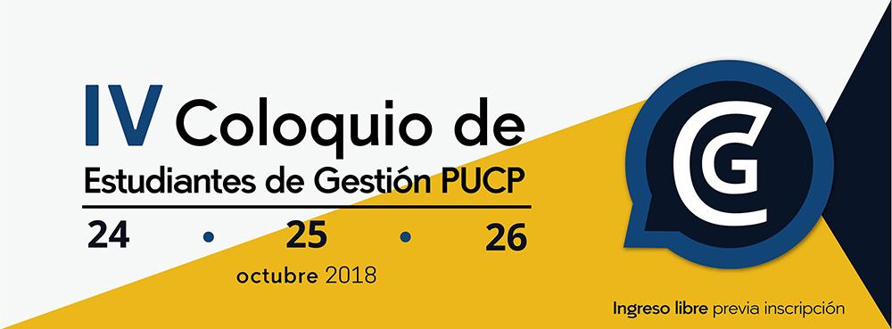 IV Coloquio Gestión PUCP 2018