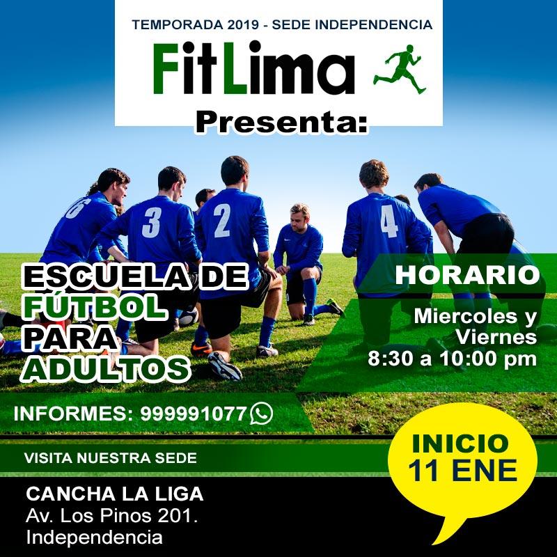 FIT LIMA - Escuela de Fútbol para Adultos - Diseño Flyer - Overflow.pe