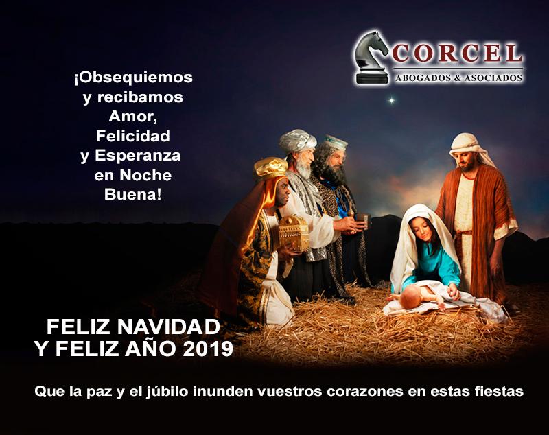 Flyers para saludar por Navidad Corcel Abogados - Overflow.pe