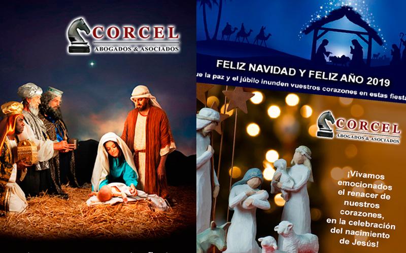 Diseño de flyers por Navidad para Corcel Abogados 1
