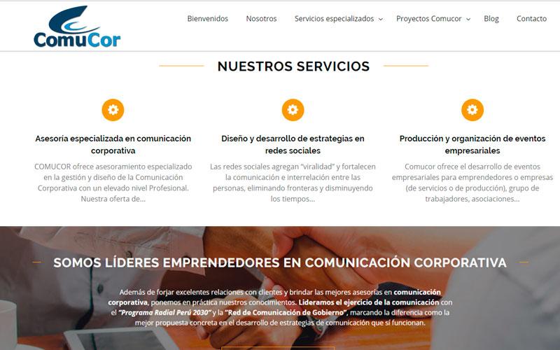 Sitio Web Comucor SAC - Overflow.pe
