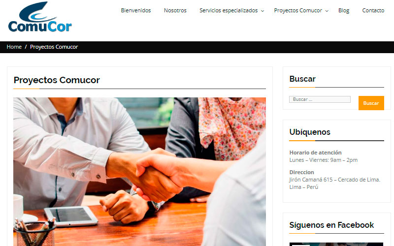 Sitio Web Comucor SAC - Overflow.pe