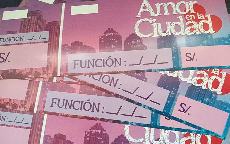 Diseño e impresión de entradas de Amor en la Ciudad - Overflow.pe