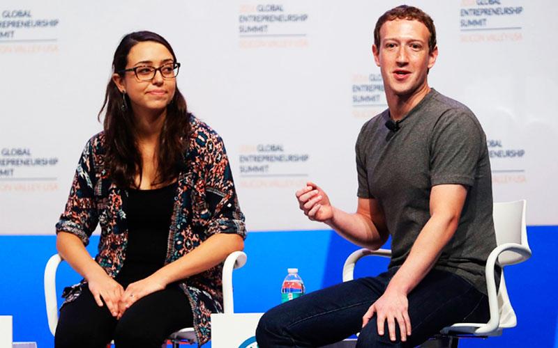 Mariana Costa y Mark Zuckerberg - Overflow.pe