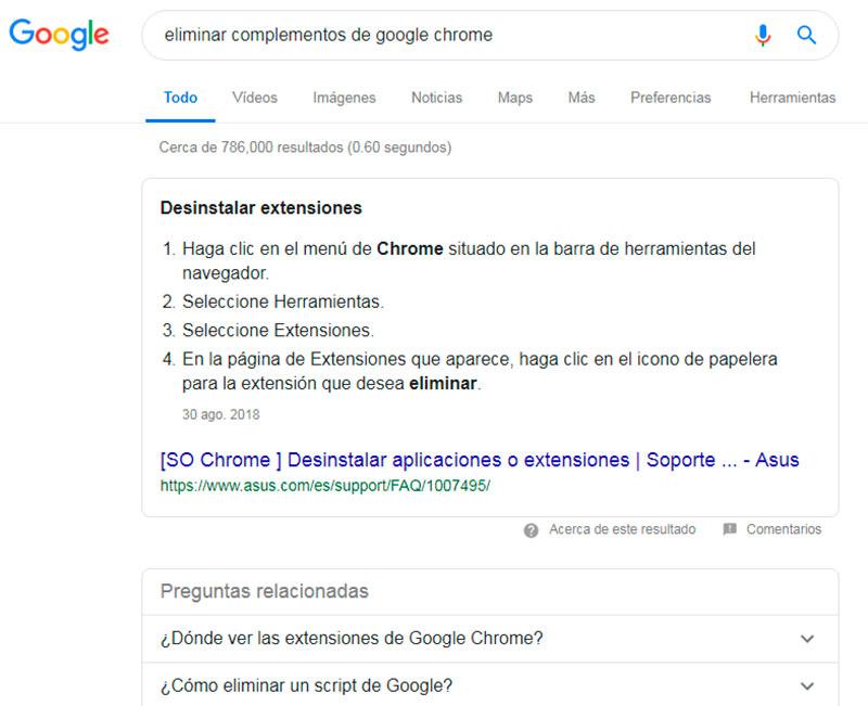Eliminar complementos de Chrome - Overflow.pe