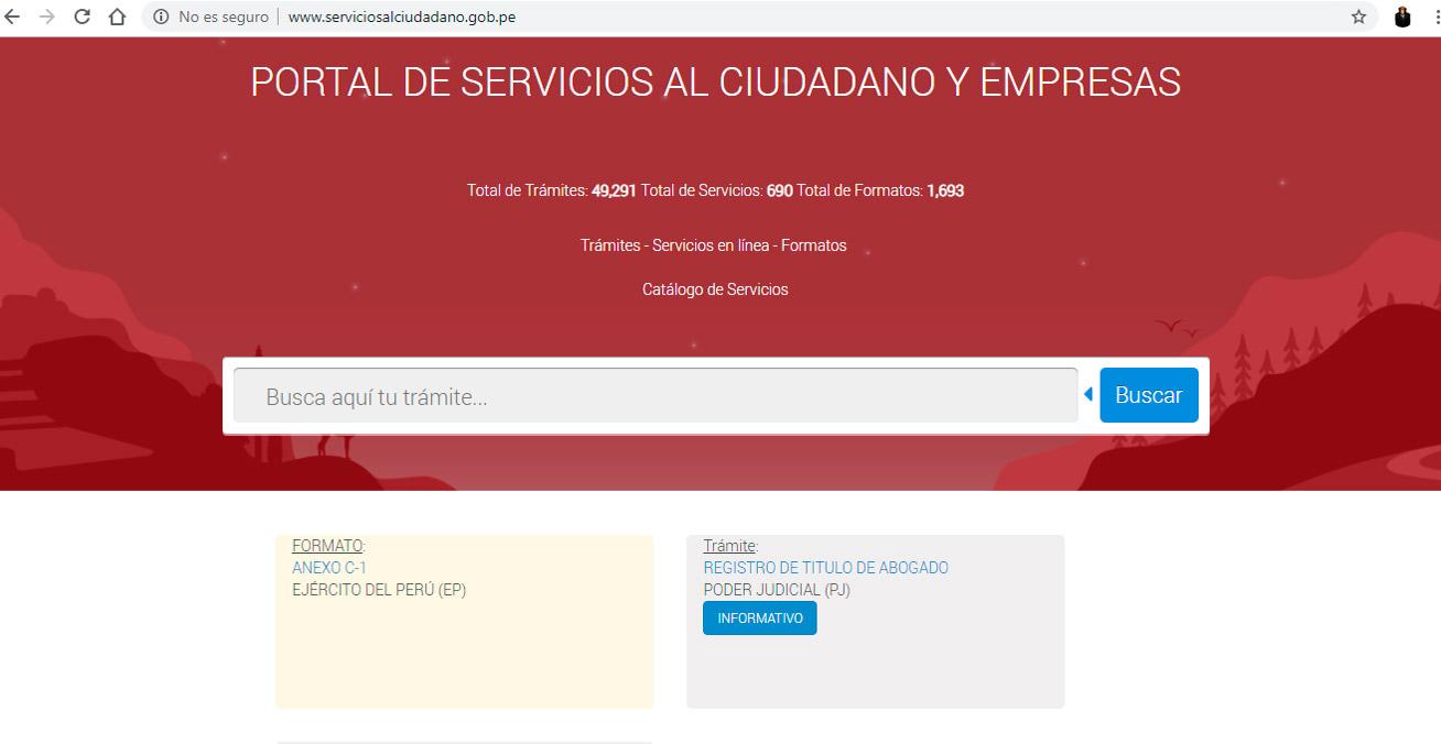 Portal de Servicios al Ciudadano - Gobierno del Perú - Overflow.pe