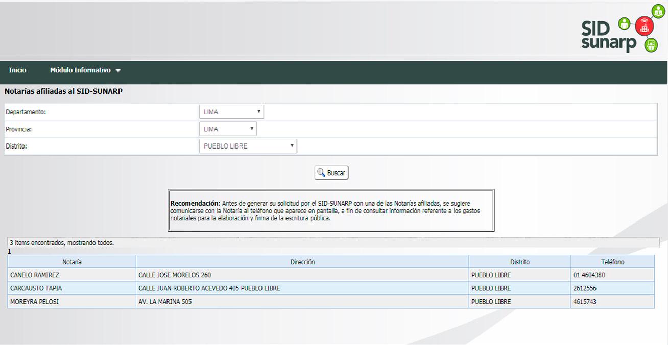 Selección de Notarías para el Trámite de Creación de Empresas en Línea - Overflow.pe
