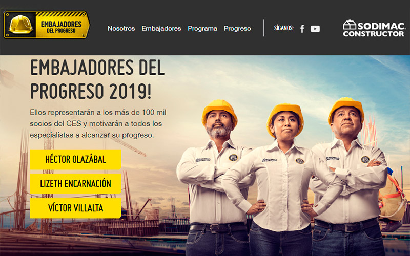 Embajadores del Progreso Sodimac 2019 - Overflow.pe