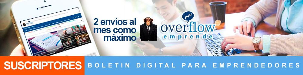 ¡Apúntate a nuestra Comunidad de Emprendedores y Recibe boletines informativos en el mes! - Overflow.pe