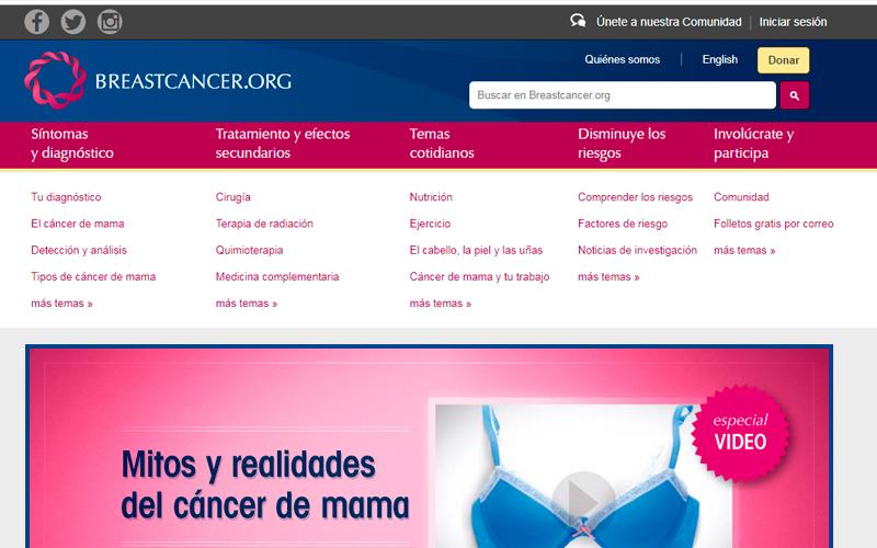 https://www.breastcancer.org/es/ - Portal de salud - Overflow.pe