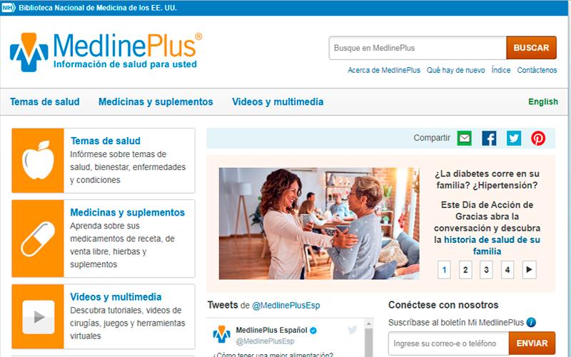 https://medlineplus.gov/spanish/ - Portal de salud - Overflow.pe