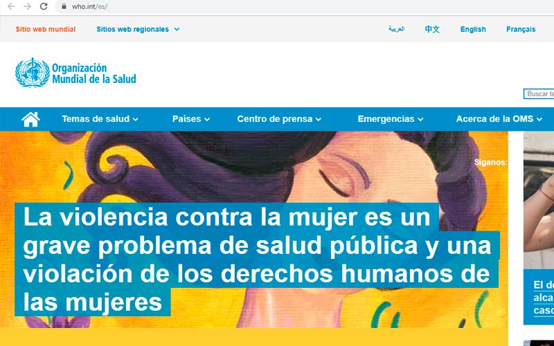 https://www.who.int/es/ - Portal de salud - Overflow.pe