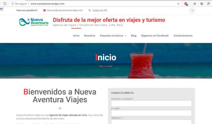 Desarrollo Integral con Nueva Aventura Viajes y Turismo - Overflow.pe